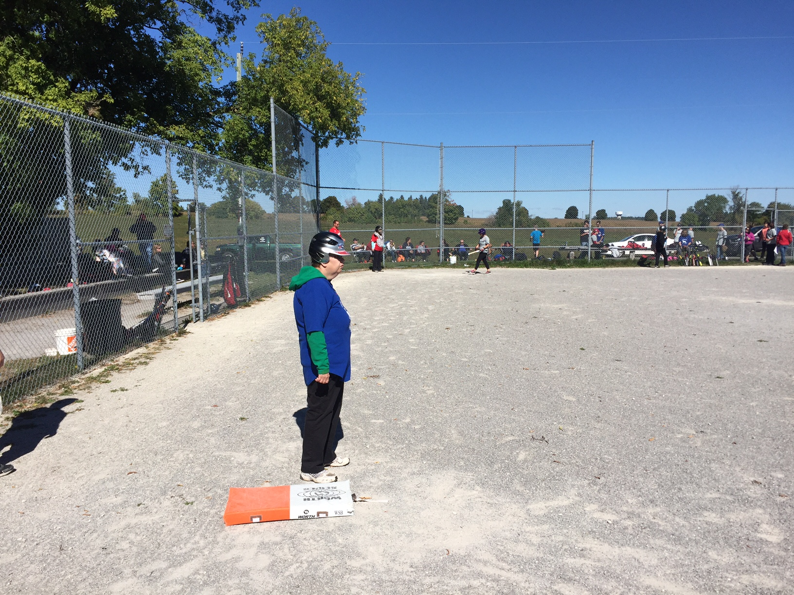 Baseball Tournament Participant on base