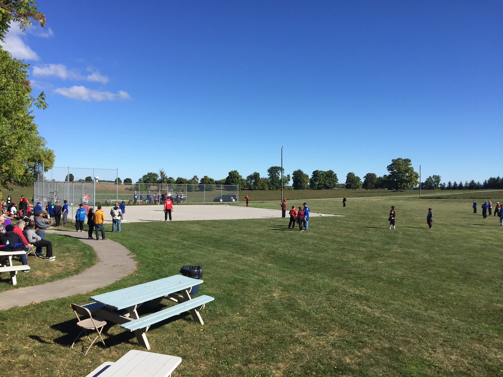 Baseball Tournament Participants ready to play