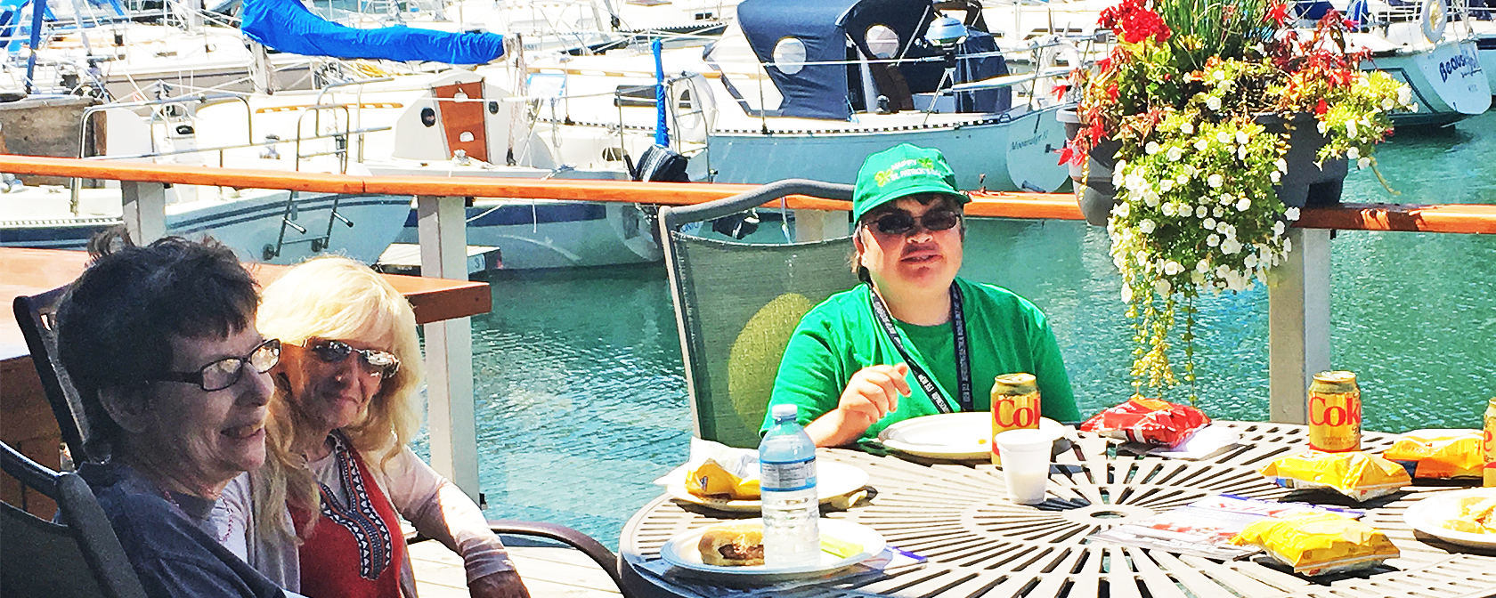 Lunch at the pier on Sailing Day 2017
