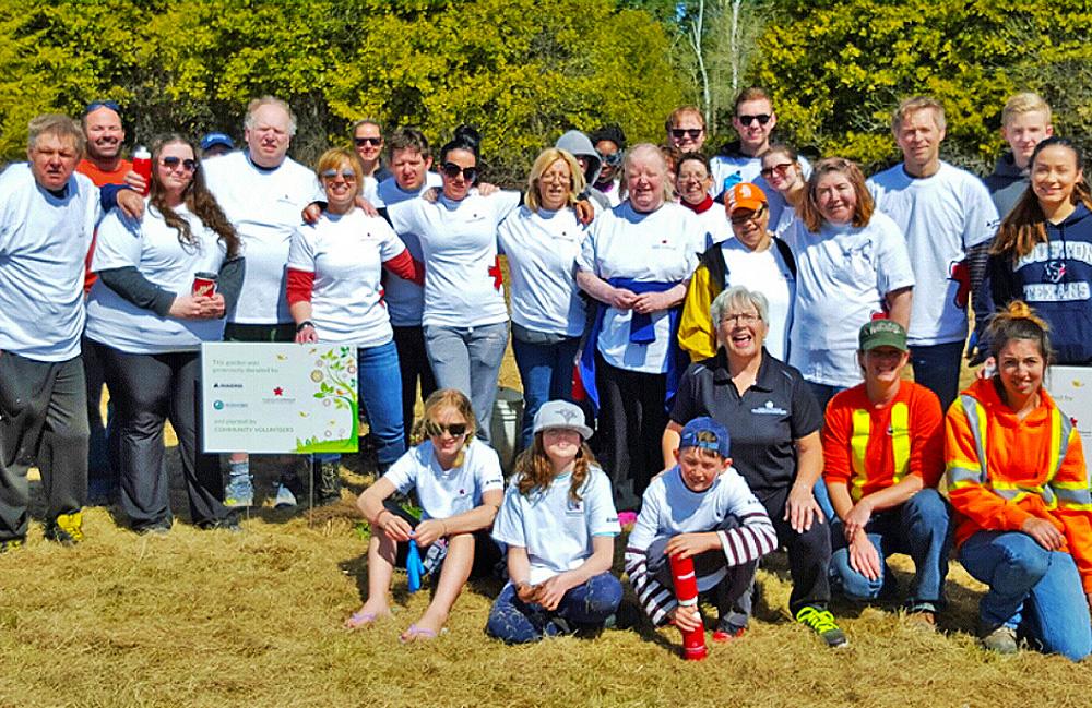 Group photo of tree planting team